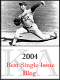 2004 Koufax Best Single Issue Blog